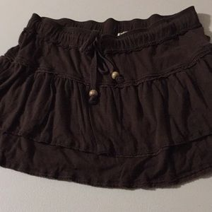 Chocolate tiered old navy jersey skirt s summer